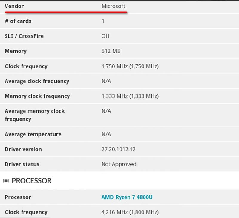 مایکروسافت در حال تست یک سرفیس لپتاپ جدید با پردازنده Ryzen 7 4800U است