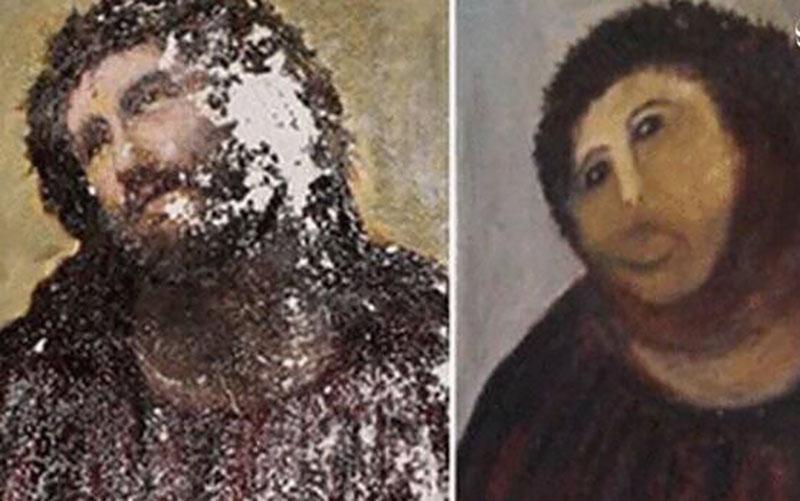 افتضاحی که حین بازسازی نقاشی مشهور به بار آمد! /عکس