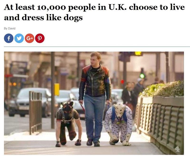 """بیش از ۱۰۰۰۰ شهروند انگلیسی تبدیل به """"انسان سگنما"""" شدهاند! + تصاویر"""