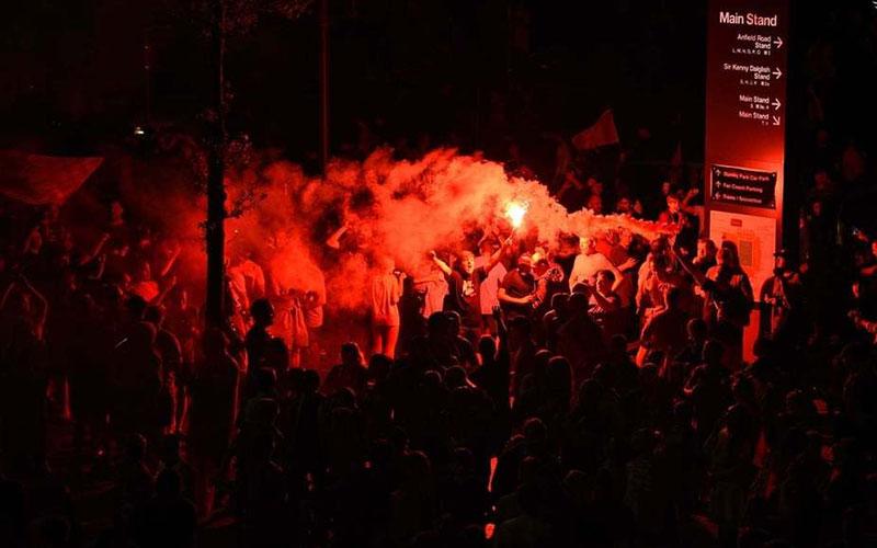 جشن قهرمانی لیورپول بعد ۳۰ سال /تصاویر