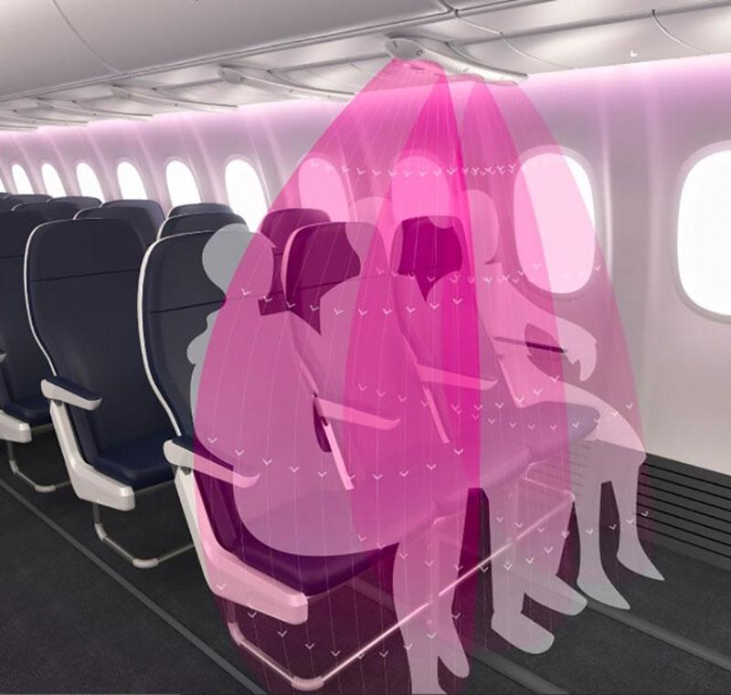 محافظ نامرئی هواپیما برای دوری از کروناویروس/تصاویر