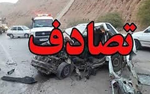 تصادف دو خودرو در جاده قم با ۵ مصدوم تصادف, جاده تهران قم, خودرو