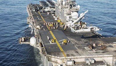 خروج ناو آمریکا از خلیج فارس نیروی دریایی آمریکا, خلیج فارس, یو اس اس باتان