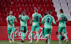 رئال مادرید ۲ - گرانادا یک / شاگردان زیدان ۲ امتیاز تا قهرمانی لالیگا