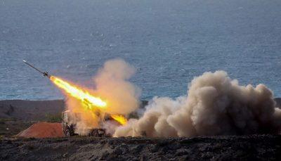 شلیک موشکهای سپاه در منطقه خلیج فارس/ عکس
