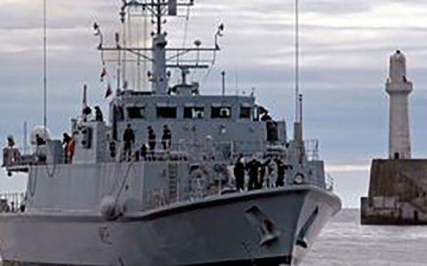 فرار کشتی مین روب انگلیس از خلیج فارس بعد از رزمایش سپاه خلیج فارس, کشتی مین روب, نیروی دریایی انگلیس