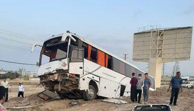 فوت ۶ نفر در تصادف اتوبوس با پراید در «گیلان» اتوبوس, سواری پراید, تصادف مرگبار