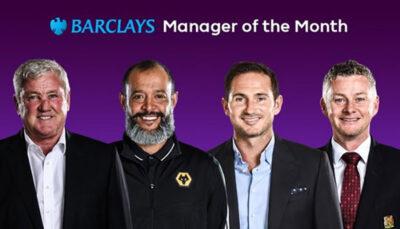 نامزدهای بهترین مربی ماه جزیره اعلام شد اتحادیه فوتبال انگلیس, منچستریونایتد, بهترین مربی