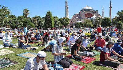 نخستین نماز جمعه مسجد ایاصوفیه پس از ۸۶ سال/تصاویر