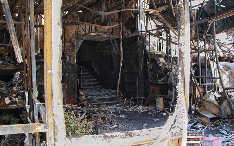 10017 کلینیک درمانی سینا اطهر, حادثه, آتش سوزی