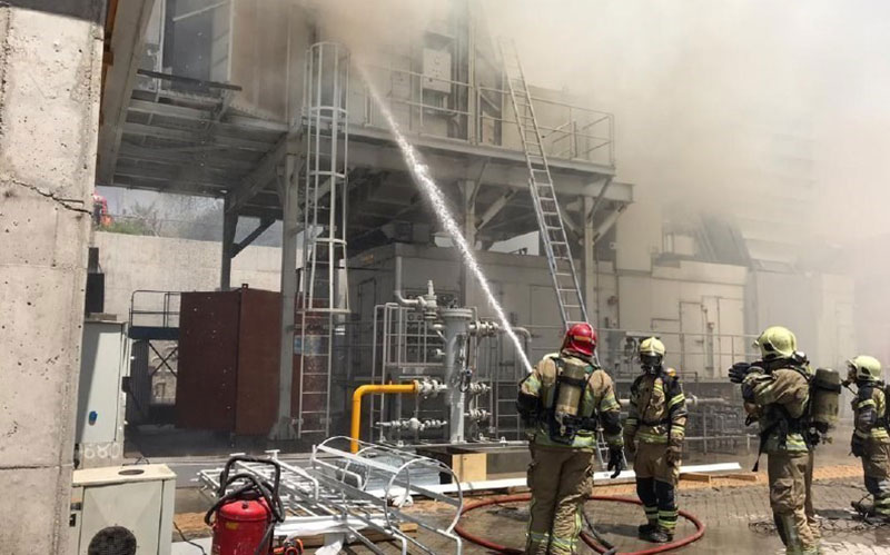 101 2 ستارخان, آتشسوزی, ادارات برق