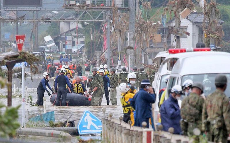 304 1 مناطق سیلزده, هواشناسی ژاپن
