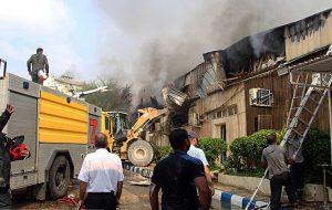 آتش سوزی در پاساژ پردیس کیش/تصاویر
