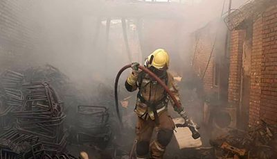 آتش سوزی گسترده در شهرک صنعتی چهاردانگه تهران شهرک صنعتی, حریق, چهاردانگه