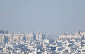 آلودگی هوا طی شبانهروز گذشته در تهران