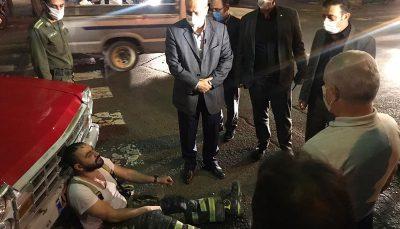اولین تصاویر از حادثه خیابان رازی پس از اطفاء حریق ساختمان چهارطبقه, خیابان فخر رازی, حریق