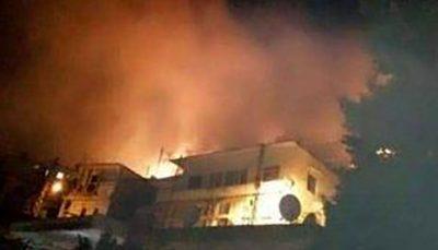 بار دیگر آتش سوزی در لبنان فاجعه آفرید لبنان, آتش سوزی, منطقه صعب العبور