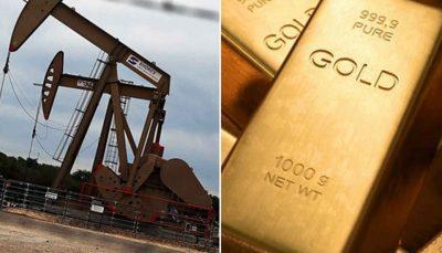 بهای امروز نفت و طلا در بازارهای جهانی 3 نفت خام آمریکا, نفت برنت, اونس طلا