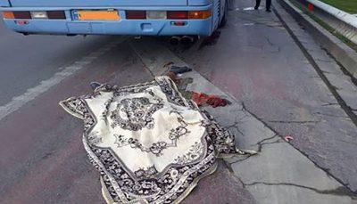 تصادف مرگبار اتوبوس شرکت واحد با عابر پیاده اتوبوس شرکت واحد, عابر پیاده, تصادف مرگبار
