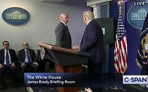 تیراندازی در کاخ سفید نشست خبری ترامپ را قطع کرد نشست خبری ترامپ, تیراندازی, کاخ سفید