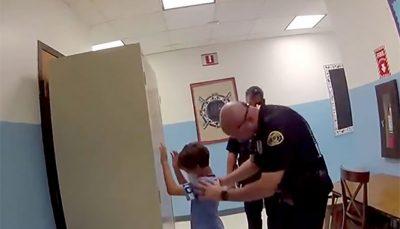 دستبند زدن پلیس آمریکا به دست کودک استثنایی پلیس آمریکا, کودک استثنایی