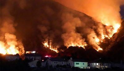 وضعیت اضطراری در کالیفرنیا به دلیل آتشسوزی گسترده