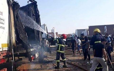 وقوع آتشسوزی گسترده در گذرگاه مرزی ایران و عراق
