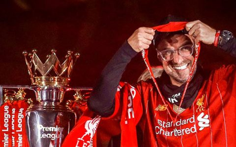 یورگن کلوپ جایزه گرفت لیورپول, لیگ برتر, یورگن کلوپ
