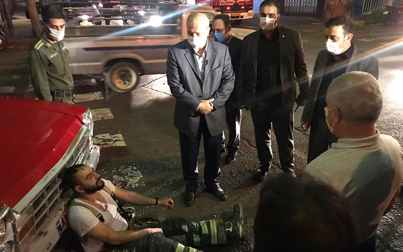 اولین تصاویر از حادثه خیابان رازی پس از اطفاء حریق