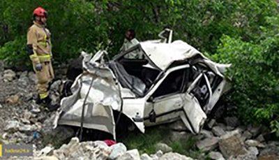 2 کشته در سقوط خودرو به دره در ماسال