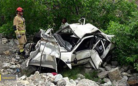2 کشته در سقوط خودرو به دره در ماسال دره, خودروی ۲۰۶, ماسال