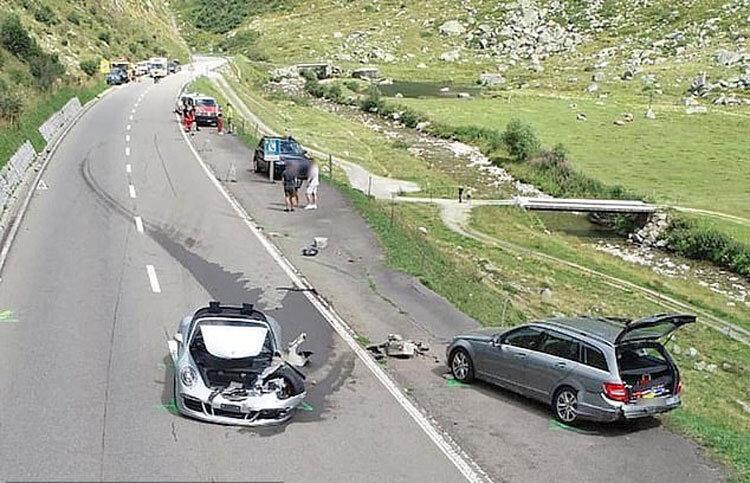 4481862 پورشه, بوگاتی, حادثه