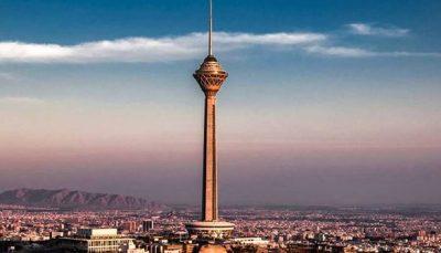 پیام تسلیت به مردم لبنان برروی برج میلاد