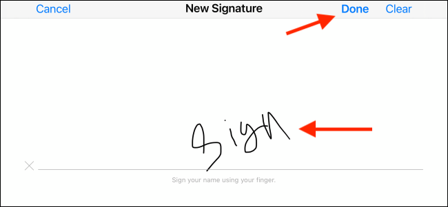 xSign and tap the Done button.png.pagespeed.gpjpjwpjwsjsrjrprwricpmd.ic .tQpAjXXLRd اپلیکیشن Mail, امضا