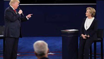 """افسوس هیلاری کلینتون برای اینکه چرا به ترامپ نگفته """"خفه شو""""!"""