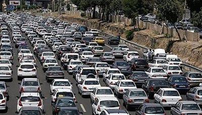 ترافیک سنگین در آزادراه قزوین کرج آزادراه قزوین_کرج, ترافیک سنگین