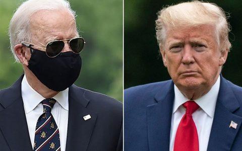 ترامپ بایدن را به دلیل استفاده از ماسک مسخره کرد