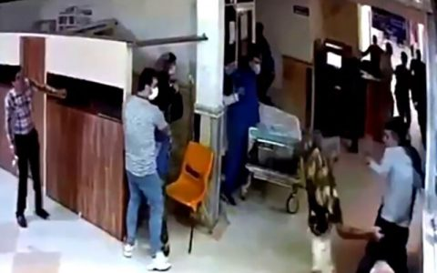 اراذل و اوباش به بیمارستان پورسینا رشت