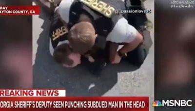 ضرب و شتم یک سیاهپوست به دست پلیس آمریکا مقابل چشم خانوادهاش سیاهپوست, پلیس آمریکا, ضرب و شتم