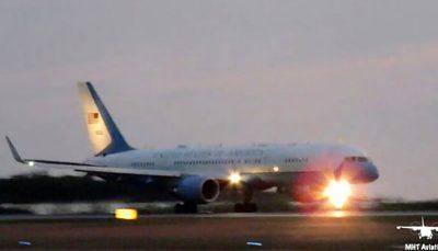 فرود اضطراری هواپیمای معاون ترامپ در پی برخورد با یک پرنده