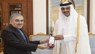هدیه امیر قطر به سفیر ایران / عکس