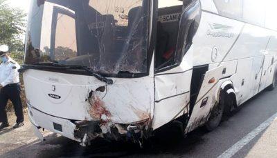 ۲ کشته و ۲۵ مصدوم به دلیل واژگونی اتوبوس واژگونی اتوبوس, آزادراه کرج - قزوین