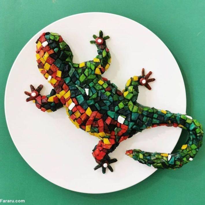 هنر نقاشی با غذا /عکس