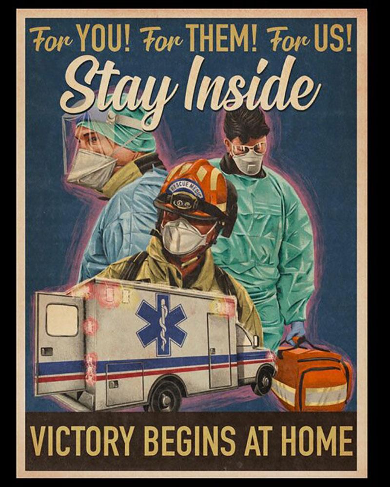 این پوسترها فریاد زدند در خانه بمانید!
