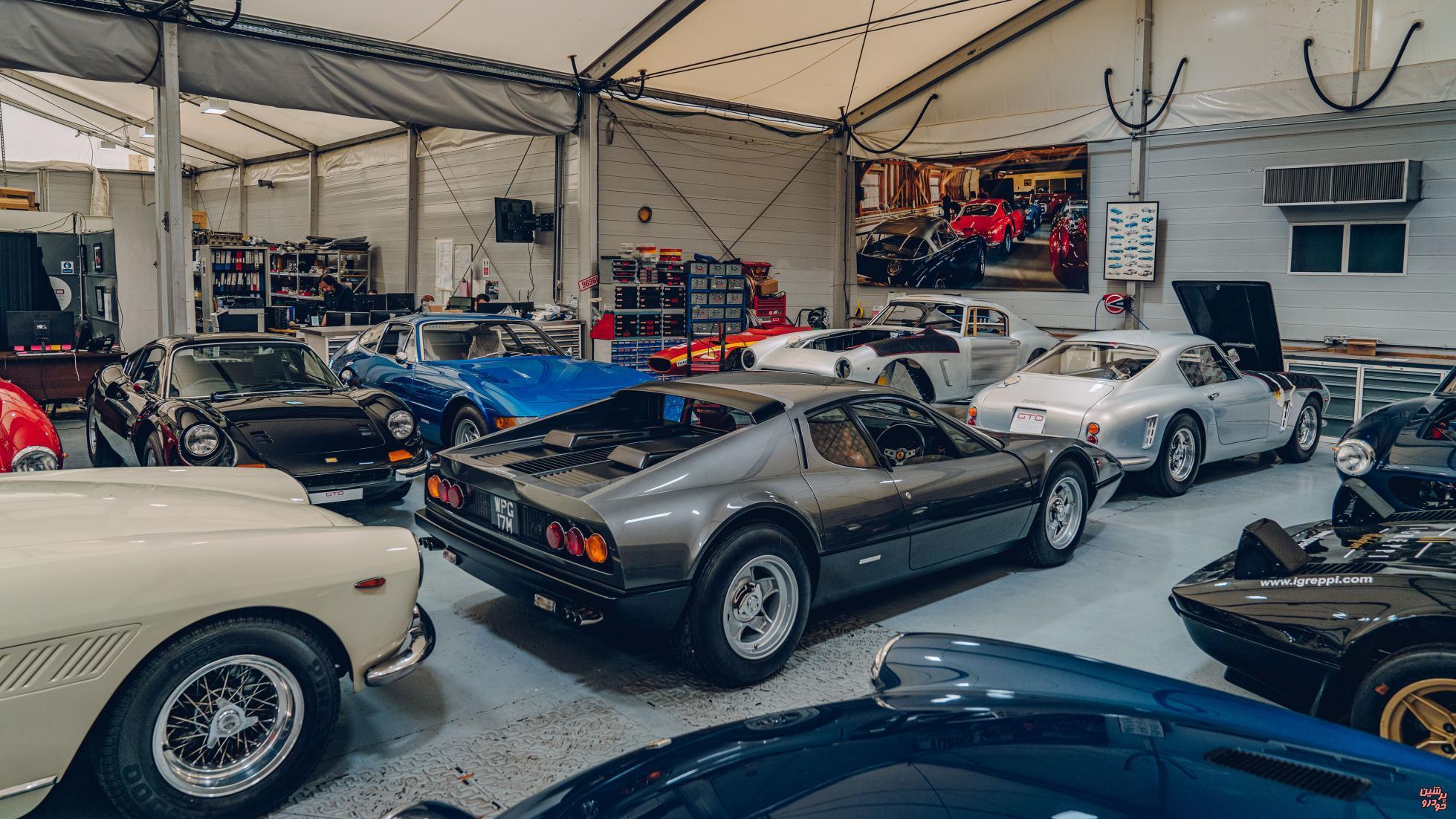 پشت صحنه مرکز بازسازی خودروهای کلاسیک فراری/ تصاویر