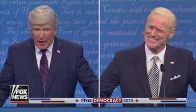 آلک بالدوین و جیم کری در نقش ترامپ و بایدن ظاهر شدند
