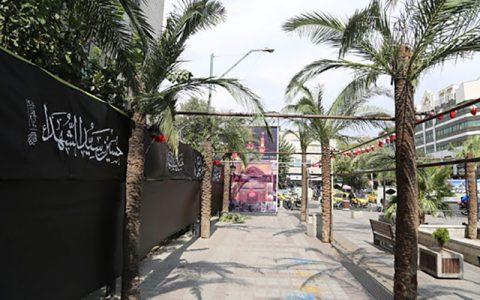 ساخت نمای تمثیلی بین الحرمین در میدان منیریه تهران