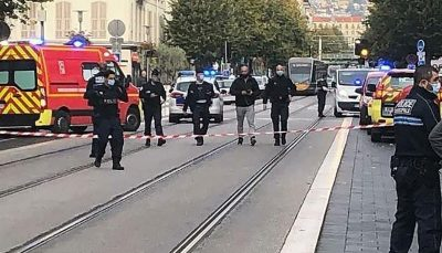 سه کشته در حمله با چاقو به کلیسای نیس فرانسه/سر زن قربانی جدا شد