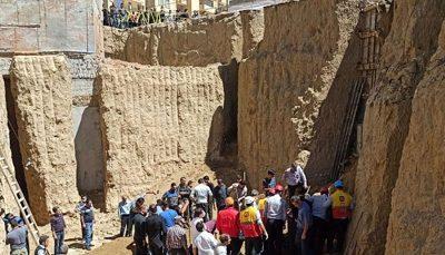 محبوس شدن ۴ نفر به دلیل ریزش آوار مجتبی خالدی, ریزش آوار
