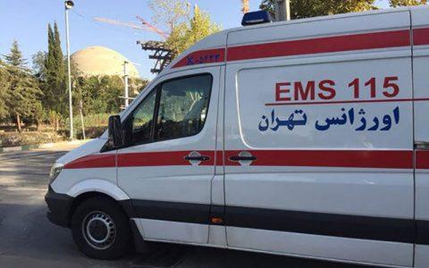 واژگونی مینی بوس در جاجرود تهران ۸ مصدوم داشت
